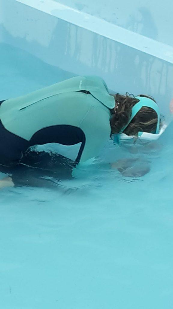 onderwaterschade herstel van een zwembad