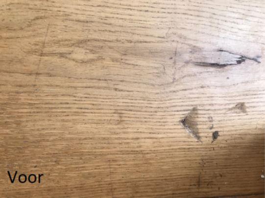 Schade aan houten vloer