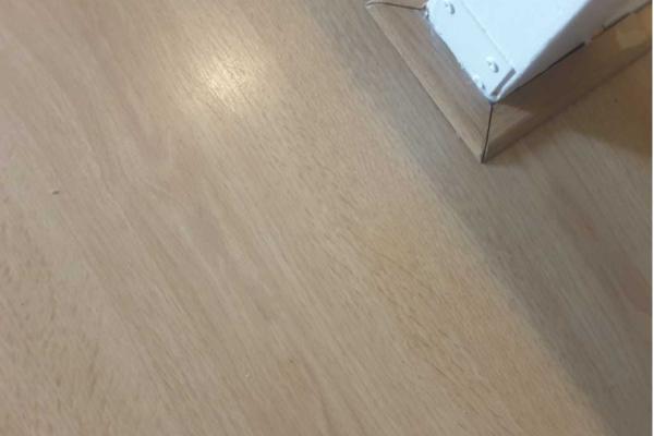 Laminaat vloer na reparatie