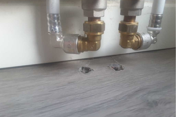 Pvc vloer voor reparatie