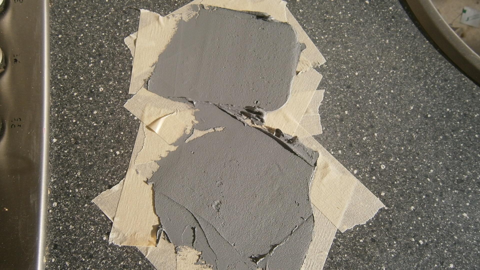 Repareren van schade aan hpl aanrechtblad